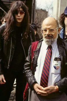 Joey Ramone & Allen Ginsberg  NYC 1992