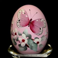 Hand-Painted-Egg-Art. Designs by Margit Jakab. Butterfly Art