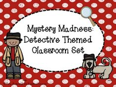 Do you have learning detectives? Then this is the theme for you! Classroom Setting, Classroom Themes, Teaching Schools, Elementary Schools, Detective Theme, 3rd Grade Writing, Reading Themes, First Year Teachers, Gifted Education