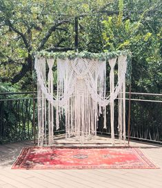 Copper Arch Macrame Backdrop at the Wedding Alter. Ceremony Backdrop, Outdoor Ceremony, Outdoor Decor, Wooden Arch, Floral Garland, Special Events, Wedding Styles, Dream Catcher, Macrame