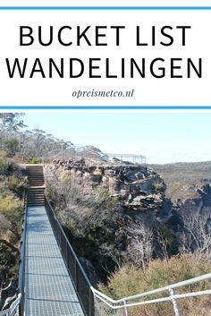 In deze blog mijn bucket list met wandelingen. Ik vind het namelijk supertof om lange wandelingen te maken tijdens mijn reizen. Deze foto maakte ik tijdens een mooie wandeling in de Blue Mountains in Australië.