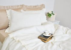 Linen Duvet Cover Set in Twin Twin XL Pure Linen by RoseHomeDecor