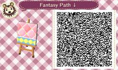 Animal Crossing QR Codes ❤ Pink Fantasy  Diamond path  Lower Side Straight TILE#6 of 9