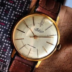 #vintage #watch from #my #collection, #gold plated #soviet #vympel on #poljot #2209 #movement. #1960s.