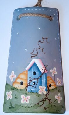 sandylandya@outlook.es Tole Painting, Painting On Wood, Decoupage, Clay Flower Pots, Clay Pot Crafts, Spring Painting, Pintura Country, Country Paintings, Craft Show Ideas