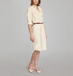 Robe Abelle Beige Indress en vente chez L'Exception