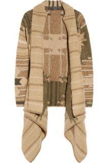 Ralph Lauren Black Label Hand knitted cashmere blend blanket coat