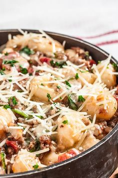 Gnocchi With Sausage + Spinach