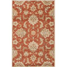 Charlton Home Thornhill Red & Gray Area Rug Rug Size: 12' x 15'