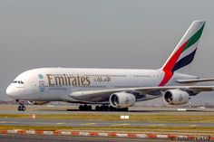 Emirates Airbus (registered taxiing at Paris-CDG Emirates Airbus, Emirates Airline, Airbus A380, Emirates Cabin Crew, Like A Shooting Star, Northwest Airlines, Boeing 747 400, Airplane Photography, Best Airlines
