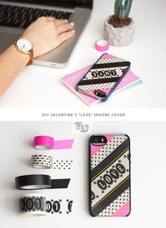 #diy #washi #love #iphone #case #cover (Diy Tech Projects)