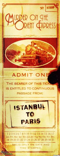 ,I bought this book on our trip from Venice to Paris on the Orient Express! awesome memories.