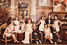 Vanity fair style group photo- Would be cool for your wedding party to do a picture like this in the Pub/Bar Area