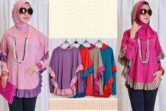 trend gaya baju muslim jersey motif wanita Baju Muslim Modern 697e14d50b