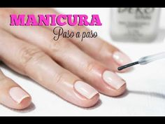 Clase #3 Manicure paso a paso ♥ Deko Uñas - YouTube Manicure Y Pedicure, Nail Art Tools, Food Videos, Make Your Own, Nails, Beauty, Full Set, Youtube, Diy