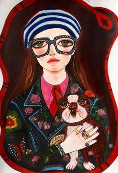 Любимый художник Gucci самоучка с Instagram - Хелен Дауни