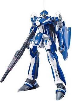 The cool blue VF-25G Messiah Valkyrie piloted by the charming marksman Michael Blanc makes its plastic kit debut.