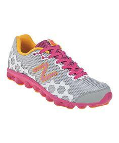 Silver & Diva Pink Grade School Minimus Ionix 3090 Running Shoe by New Balance