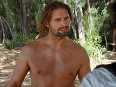 "Josh Holloway as James ""Sawyer"" Ford . This man needs to remain shirtless!"