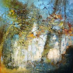 'Beyond the shadows' by Claire Wiltsher mixed media 80cm x 80cm £895 www.lyndhurstgallery.co.uk