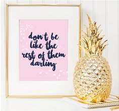 Typography Poster Don't Be Like The Rest of Them by LovelyPosters