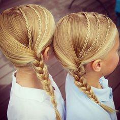 Ideas Braids For Kids Cool Little Girl Hairstyles, Hairstyles For School, Trendy Hairstyles, Braided Hairstyles, Hairstyles Videos, Braids For Kids, Girls Braids, Types Of Braids, Grow Long Hair