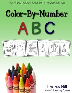 50-page Color-By-Number ABC Printables for Preschoolers and Kindergartners