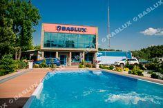 Baslux Baseny Siedziba Firmy / Baslux Pool Company Pool Companies, Pools, Transportation, Base, Garden, Outdoor Decor, Garten, Lawn And Garden, Gardens