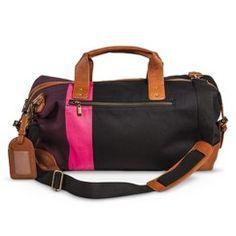 047fc6af5d5f Women s Color Block Weekender Handbag - Black Target Purse