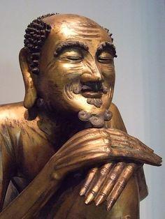 The Buddha Shakyamuni as an ascetic Gilt bronze 1600 to 1700 CE Ming or Qing…