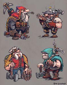 Dwarves Concepts, Stan Loiseaux on ArtStation at https://www.artstation.com/artwork/dwarves-concepts