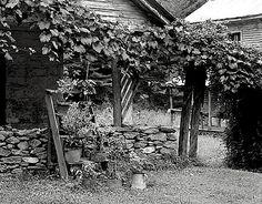 The Sunday porch/enclos*ure: detail of outbuilding porch,, Struan, Arden, North Carolina, 1938, by F. B. Johnston