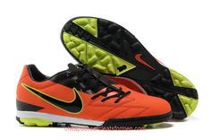 c99c062db2c6 Nike T90 Shoot IV TF Soccer Cleats Red Black Fluorescent Yellow