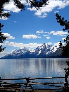 Mountain Reflection On Jenny Lake | Grand Teton National Park | Wyoming | Photo…