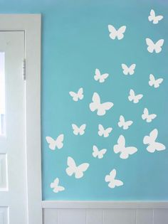 criativas quartos simples Set of 34 Butterfly decal in varying sizes - Butterfly wall decals butterfly nursery wall decal sticker Nursery Wall Decals, Wall Decal Sticker, Bedroom Wall, Bedroom Decor, Baby Bedroom, Vinyl Decals, Butterfly Nursery, Butterfly Wall Decals, Butterfly Art