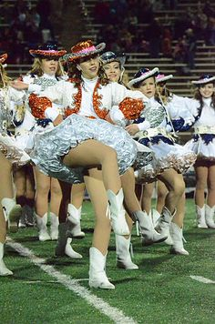Plenty of petticoats on this Texas drill team girl.
