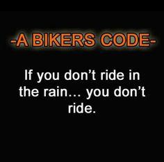 A biker's code