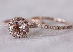 French 14K Black Gold Three Stone Emerald Wedding Ring, Engagement ...