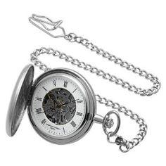 #9: Charles-Hubert, Paris Satin Finish Mechanical Pocket Watch