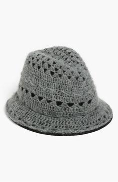 Tarnish Crochet Fedora | Nordstrom
