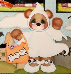 ELITE4U PMBY JULIE Premade Child Scrapbook Pages Album tear bear paper piecing