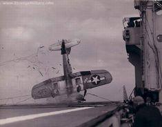 The dangers of landing on an aircraft carrier.