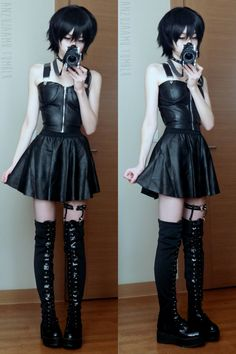 anzujaamu: All black! New outfit post is up here~!