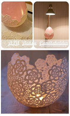 sweet & simple tealight candle holder