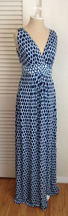 I own the Tart Martine maxi in a navy chevron print, but I like this Mini Ikat Print better - I know I'm trying to get away from prints, but this is gorgeous.  Love the color.  The dress is somewhat flattering on, but it seems to widen my rib cage and I can't find a bra that works with it, which is very frustrating.