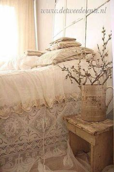 layers of vintage lace