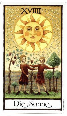 The Sun - Old English Tarot (Die Sonne)