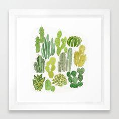 "Cactus Framed Art Print 12""x12"""