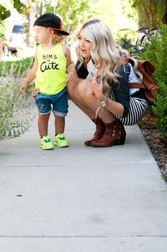 Cara Loren and baby Hanes. Love their style