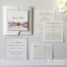 Lilac Wedding Invitations featuring Pebble Paper